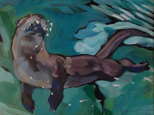 """Considering (Rising Two)"" original fine art by Kat Corrigan"