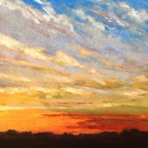 """Evening Sky"" original fine art by Cindy Gillett"