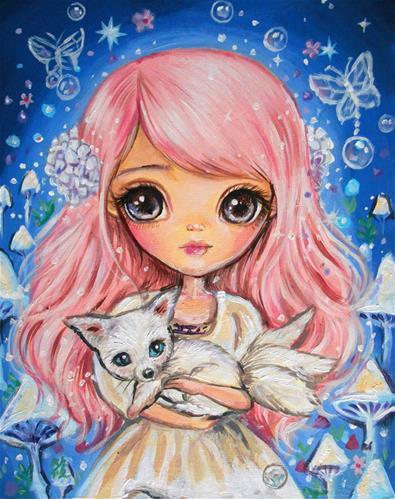 """Kindred Spirits"" original fine art by Nicole Chen"