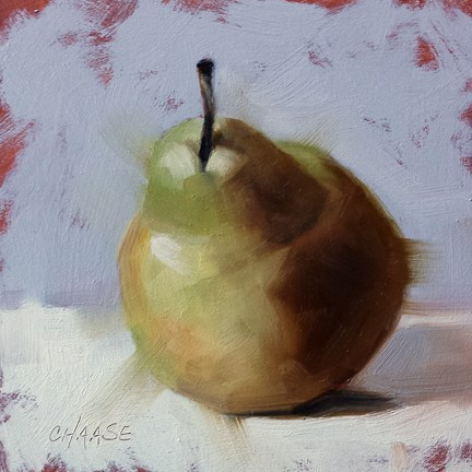 """Sunday's Pear"" original fine art by Cindy Haase"