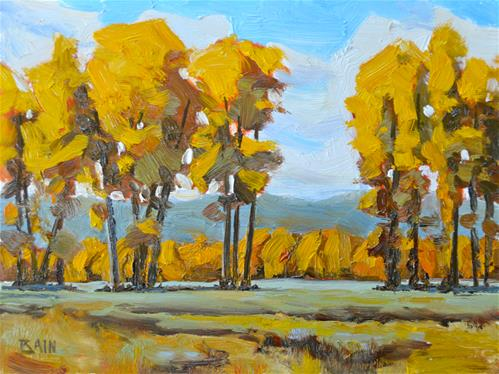 """Autumn Gold"" original fine art by Peter Bain"