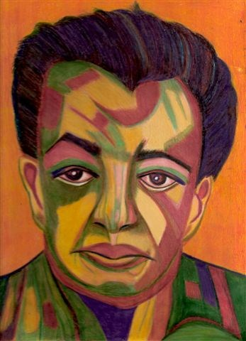 """Primitive Diego (A Portrait of Diego Rivera)"" original fine art by Terri Brown-Davidson"