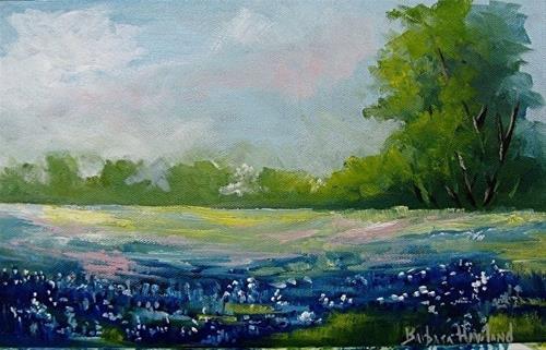 """Blue Bonnets"" original fine art by Barbara Haviland"