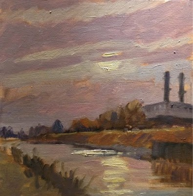 """Spalding Power Station"" original fine art by Mo Teeuw"