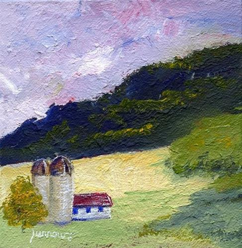 """Traveling on Route 785 to Beliveau Estate"" original fine art by Sue Furrow"