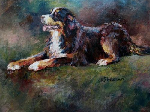 """Bernese"" original fine art by Robin Peterson"