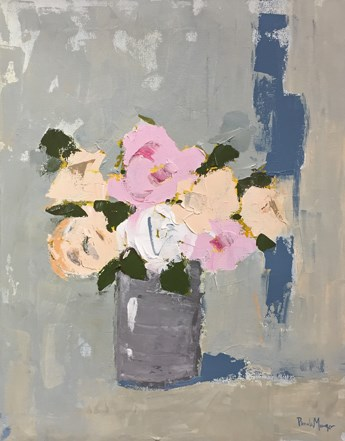 """Rustic Roses II"" original fine art by Pamela Munger"