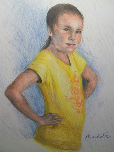 """Maddie"" original fine art by Becky Chappell"