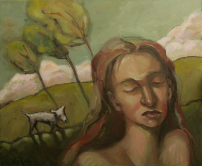 """Little White Lies"" original fine art by Brenda York"