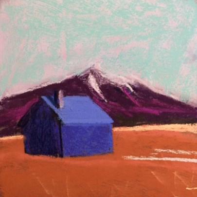 """Outside Flagstaff, 1971"" original fine art by Cristine Kossow"