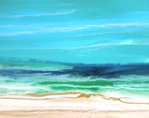 """Seascape Painting Royal Wave-Study 7  by Colorado Contemporary Artist Kimberly Conrad"" original fine art by Kimberly Conrad"