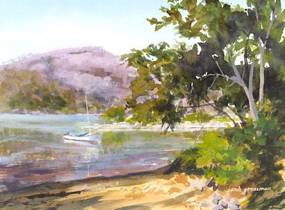 """Waiting to Sail the Hudson"" original fine art by Jamie Williams Grossman"