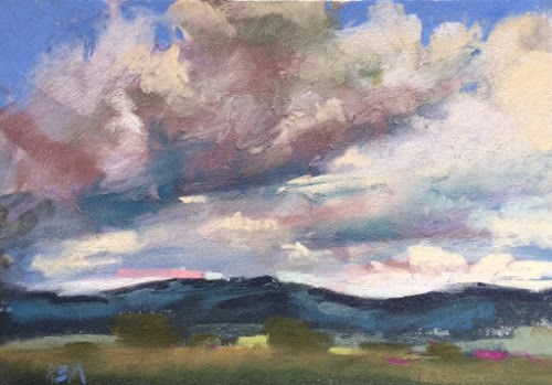 """Blue Skies Are Not Always Best"" original fine art by Karen Margulis"