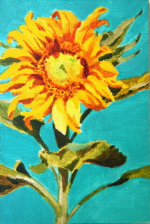 """Paula's Sunfower"" original fine art by JoAnne Perez Robinson"