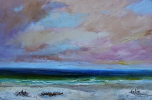 """Ponte Vedra Beach, Beach and Ocean Paintings by Arizona Artist Amy Whitehouse"" original fine art by Amy Whitehouse"