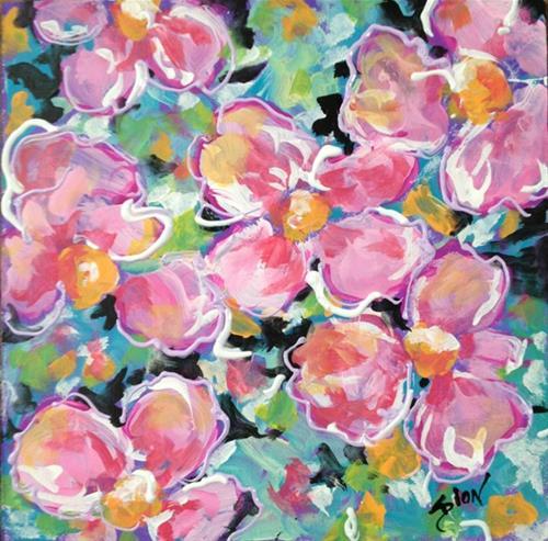 """8X8 Floral #2"" original fine art by Sue Dion"