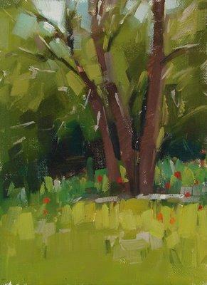 """Poppies"" original fine art by Carol Marine"