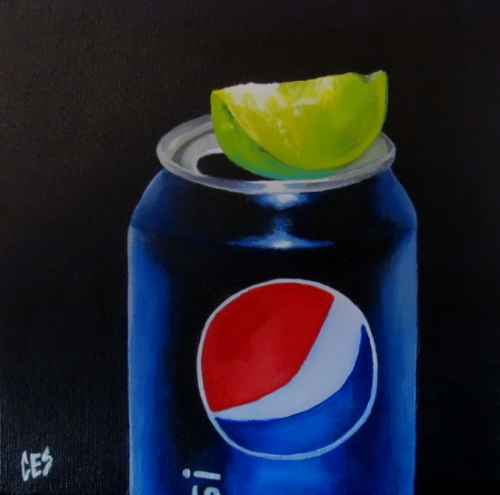 """Pepsi Lime"" original fine art by ~ces~ Christine E. S. Code"