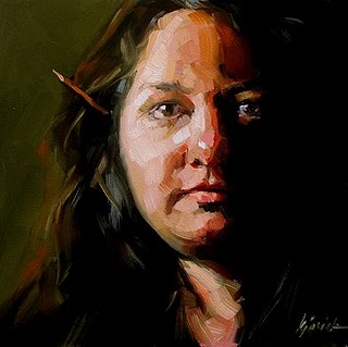 """American Artist Self Portrait Competition"" original fine art by Karin Jurick"