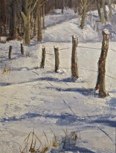 """Soft Winter Shadows"" original fine art by kay  keyes farrar"