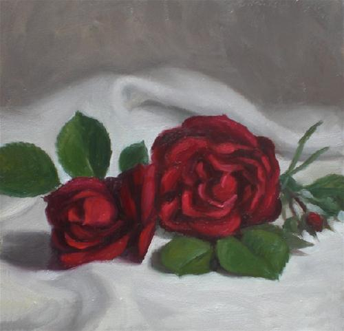"""June Roses"" original fine art by Debra Becks Cooper"