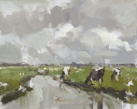 """LSP4 ""Cows and no blue"" (available)"" original fine art by Roos Schuring"