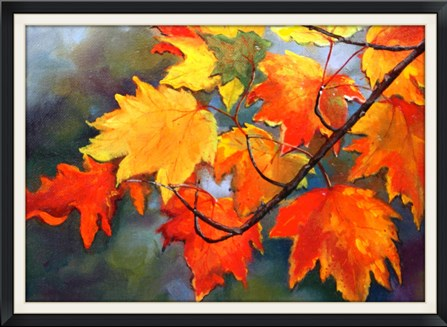 """Fall Leaves"" original fine art by Linda Dunbar"