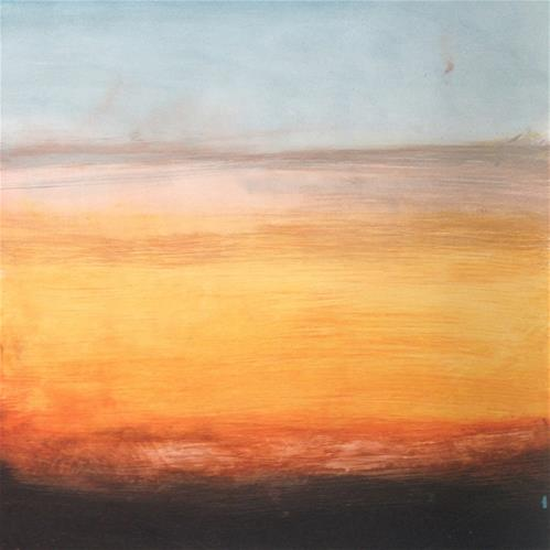 """Sunrise Abstraction"" original fine art by Allison Rockwell"