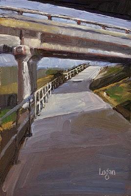 """Under the 101 Freeway"" original fine art by Raymond Logan"