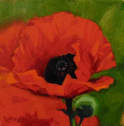"""Poppy"" original fine art by Kathy Weber"
