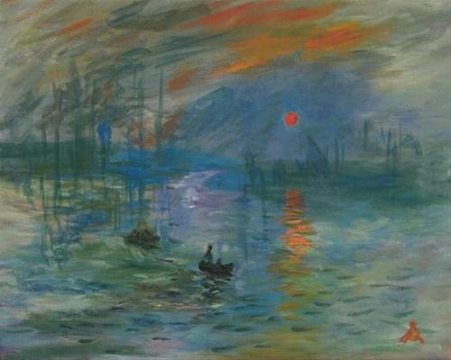 """1031 - Impression Sunrise after Claude Monet"" original fine art by Sea Dean"