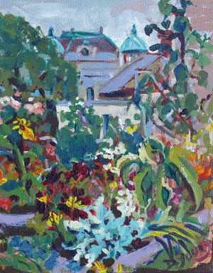 """Parliament Through the Garden"" original fine art by Darlene Young"