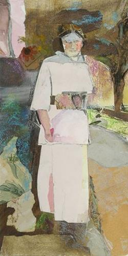 """Lady in Dress"" original fine art by Katie Wilson"