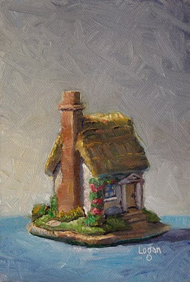 """Lilliput Cottage"" original fine art by Raymond Logan"
