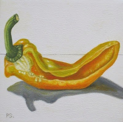 """Pimento Pepper II"" original fine art by Pera Schillings"