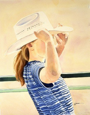 """Rodeo Gal"" original fine art by Jini James"