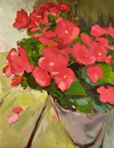 """Coral Blooms"" original fine art by Jessica Green"