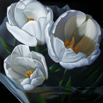 """Tulips 24x24"" original fine art by M Collier"