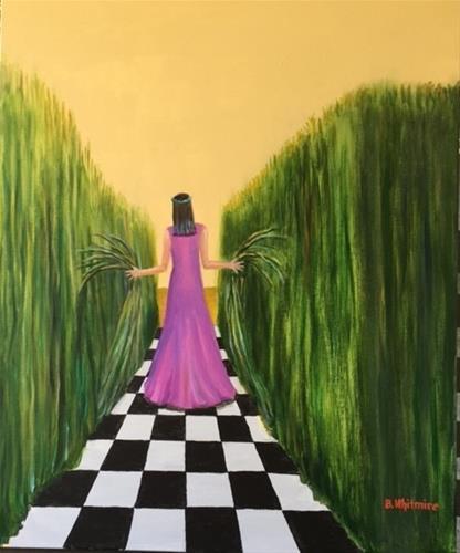 """Feeling My Way"" original fine art by Barbara Whitmire"