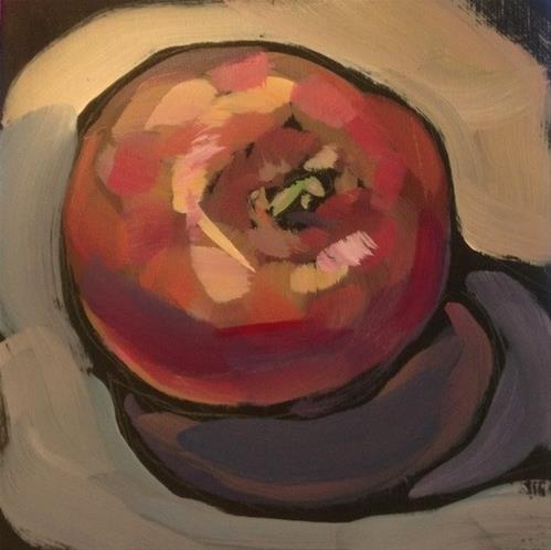 """""""October Apple"""" original fine art by Kat Corrigan"""