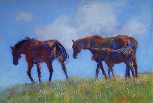 """Greener Pastures"" original fine art by Trish Stevenson"