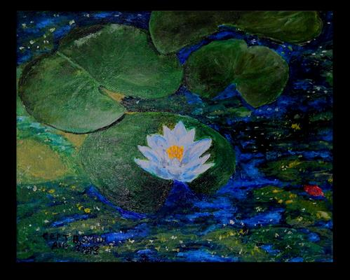"""Indigo Calm"" original fine art by Captain B Smith"