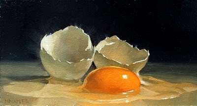 """Cracked Egg No.8"" original fine art by Michael Naples"