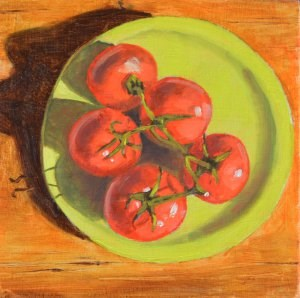 """""""Red Tomatoes"""" original fine art by Robert Frankis"""