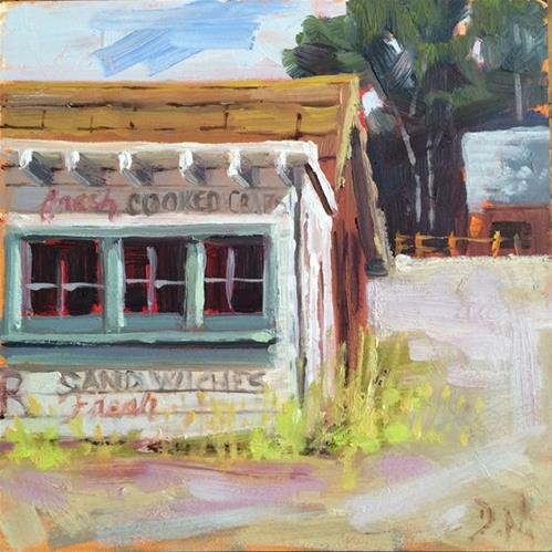 """Fresh Snack Bar"" original fine art by Deborah Newman"