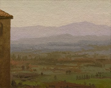"""Afternoon View from Assisi (Italy painting #7)"" original fine art by Abbey Ryan"