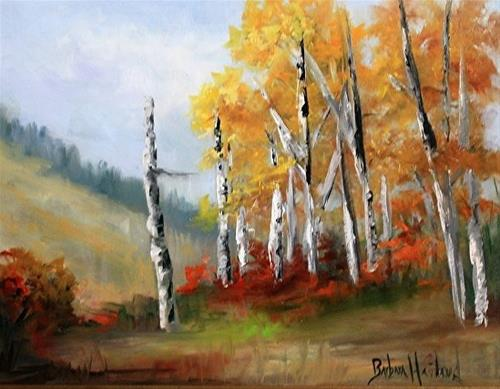 """Aspens in the Valley"" original fine art by Barbara Haviland"