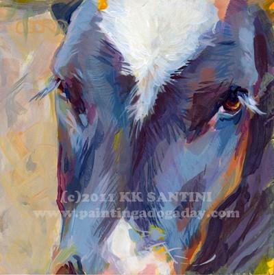 """Throwback Thursday - Baby Moo"" original fine art by Kimberly Santini"