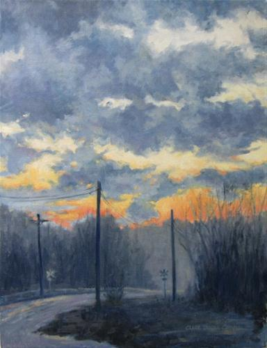 """WINTER SKY An Original Oil Painting  by Claire Beadon Carnell"" original fine art by Claire Beadon Carnell"