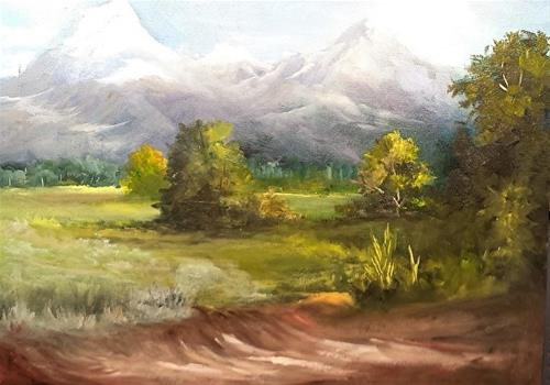 """Teton Mountains"" original fine art by Barbara Haviland"